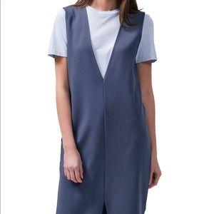 Selected Femme Deep V Pinafore Dress